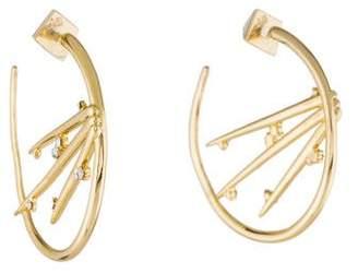 Alexis Bittar Satellite Crystal Spike Hoop Earrings