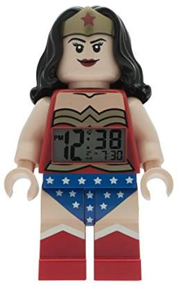 Lego DC Comics 9009877 Super Heroes Wonder Woman Kids Minifigure Light up Alarm Clock | /Blue | Plastic | 9.5 inches Tall | LCD Display | boy Girl | Official