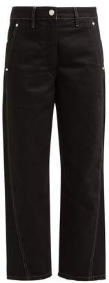 Lemaire High Rise Wide Leg Jeans - Womens - Black