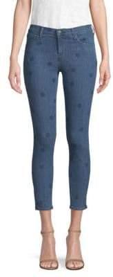 J Brand 835 Mid-Rise Polka Dot Capri Jeans