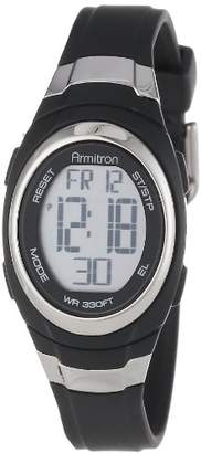 Armitron Sport Unisex 45/7034BLK Stainless Steel Accented Resin Strap Chronograph Digital Watch