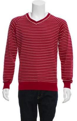 Maison Margiela Striped V-Neck Sweater