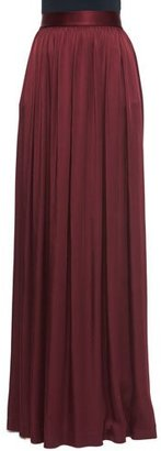 St. John Collection Liquid Crepe Gown Skirt with Pockets $1,095 thestylecure.com