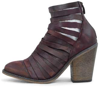 Free People Aubergine Strappy Bootie