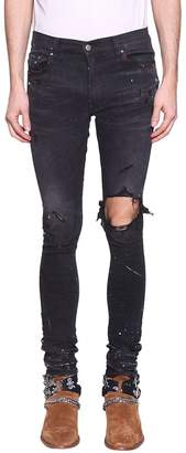 Amiri Artist Broken Cotton Denim Jeans