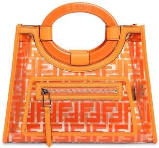 Fendi Runway Leather & Pvc Top Handle Bag