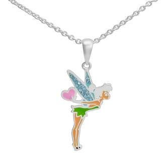 Disney Tinker Bell Silver-Plated Crystal Pendant
