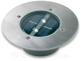 Runder Solar-LED-Bodeneinbaustrahler Lugo - IP44
