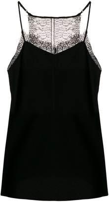 Diane von Furstenberg lace trim cami top
