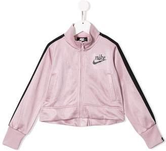 Nike stripe detail logo jacket