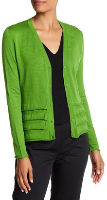 Lafayette 148 New York Rolled Detail Cardigan $248 thestylecure.com