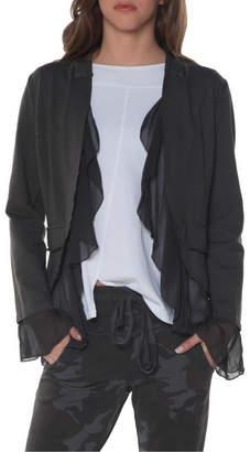 Baci Mesh Hem/Sleeve Blazer