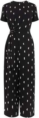 6896415d81 Next Womens Warehouse Black Brushstroke Culotte Jumpsuit
