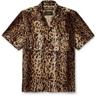 Neighborhood Camp-Collar Leopard-Print Faux Fur Shirt - Men - Animal print