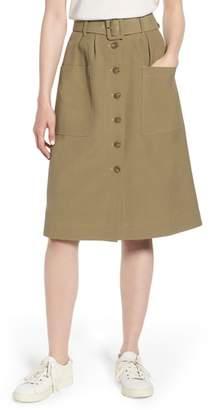 Nordstrom Signature Belted Utility Skirt