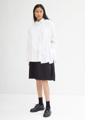 Sacai Layered White Poplin Shirt