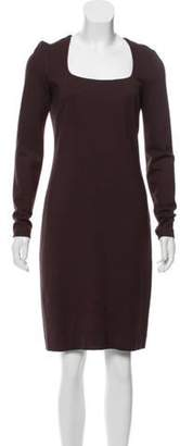 L'Agence Long Sleeve Sheath Dress Plum Long Sleeve Sheath Dress