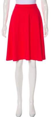 Adrienne Vittadini Flared Knee-Length Skirt Pink Flared Knee-Length Skirt