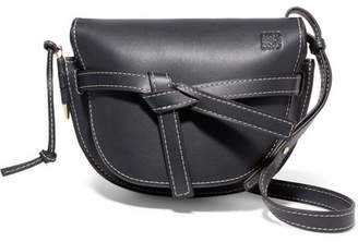 Loewe Gate Small Leather Shoulder Bag - Midnight blue