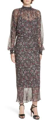 Veronica Beard Felice Floral Print Silk Dress