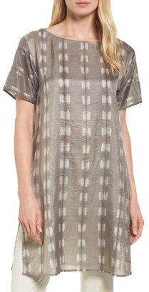Women's Eileen Fisher Bateau Neck Silk Tunic $298 thestylecure.com