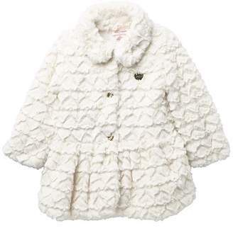 Juicy Couture Vanilla Embossed Heart Faux Fur Jacket\n(Toddler Girls)