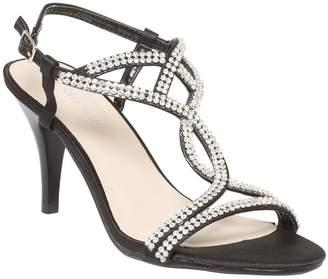 Le Château Women's Jewelled Satin T-Strap Sandal