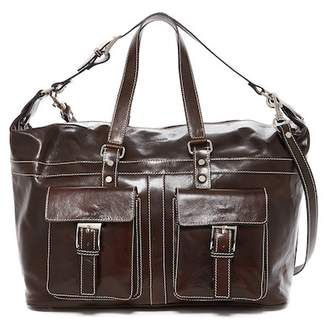 Persaman New York Scott Italian Leather Weekend Bag