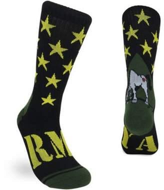 ARMY Men's Jacquard Crew Sock