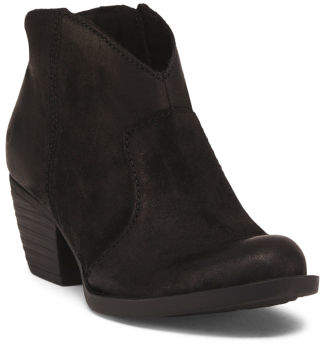 Leather Western Ankle Booties
