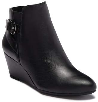 Anne Klein Abiline Leather Wedge Bootie