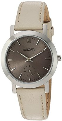 Bulova Women's Quartz Stainless Steel and Leather Casual Watch, Color:Beige (Model: 96L233) $131.25 thestylecure.com