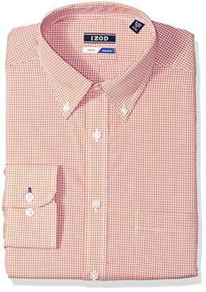 Izod Men's Dress Shirts Regular Fit Check