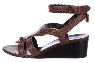 Balenciaga Leather Round-Toe Wedges