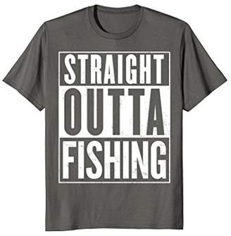 Straight Outta Fishing Funny T-Shirt