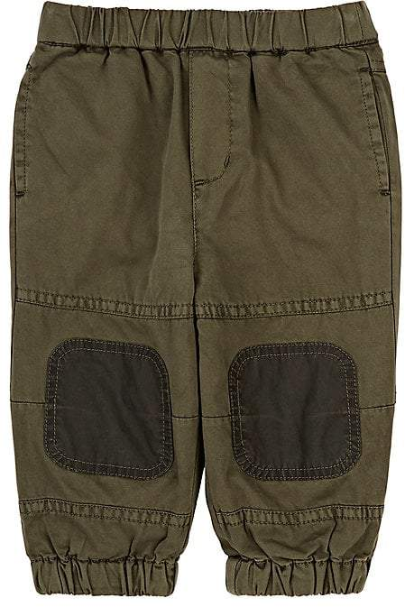Infants' Knee-Patch Cotton Twill Pants
