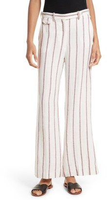 Women's Theory Nadeema Stripe Wide Leg Pants $295 thestylecure.com