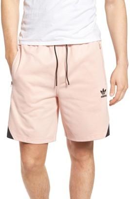 Men's Adidas Originals Woven Trim Jersey Shorts $60 thestylecure.com