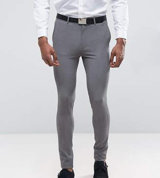 Asos Design TALL Super Skinny Suit Pants In Grey