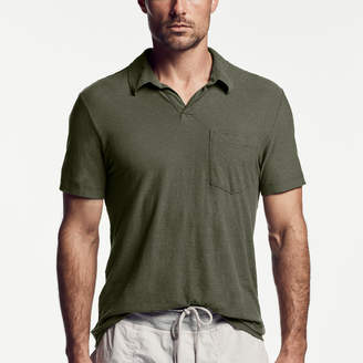 James Perse COTTON LINEN POCKET POLO