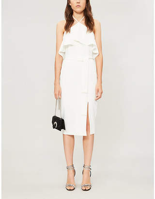 Lavish Alice Halter-neck sleeveless stretch-woven midi dress