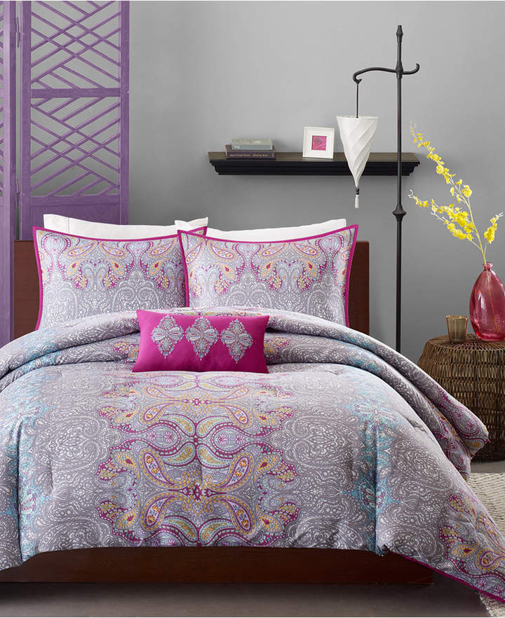 Mi Zone Keisha 4-Pc. Full/Queen Comforter Set Bedding
