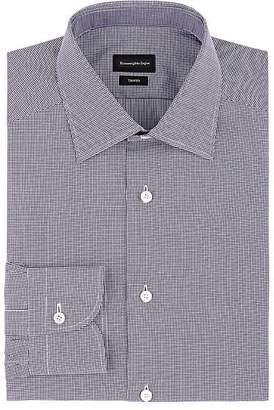 Ermenegildo Zegna Men's Puppytooth Cotton Poplin Dress Shirt