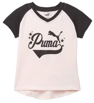 Puma Short Sleeve V-Neck Tee (Toddler Girls)