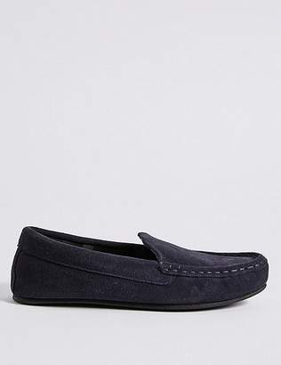 Marks and Spencer Suede Moccasin Slippers with ThinsulateTM
