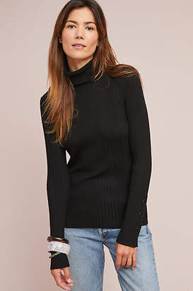 Moth Button-Sleeved Turtleneck