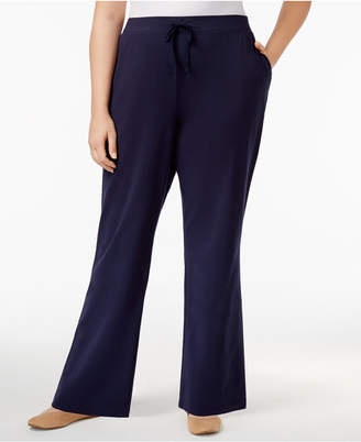 Karen Scott Plus Size High-Rise Knit Pants, Created for Macy's