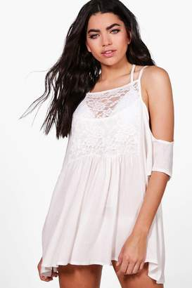 boohoo Ruby Embellished Beach Dress