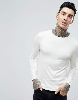 Jack and Jones Knitted Sweater With Roll Hem In 100% Cotton