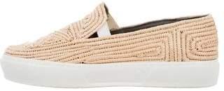 Robert Clergerie Straw Slip-On Sneakers